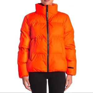 Juicy Couture Black Label Day Glo Orange Puffer